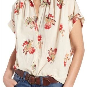 Madewell central cactus floral button down